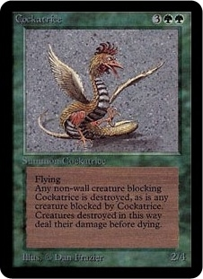 Magic the Gathering Alpha Single Cockatrice - NEAR MINT (NM)