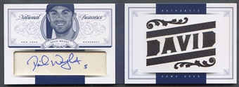 2012 Panini National Treasures #11 David Wright Jumbo Jersey Auto #1/1