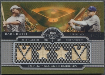 2009 Topps Sterling #1 Babe Ruth Career Chronicles Relics Quad Bat #14/25