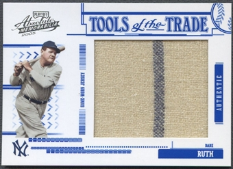 2005 Absolute Memorabilia #102 Babe Ruth Tools of the Trade Swatch Single Jumbo Jersey #60/95