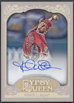 2012 Topps Gypsy Queen #JW Jered Weaver Auto