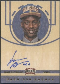 2012/13 Panini Threads #207 Harrison Barnes Rookie Auto