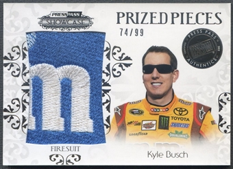 2012 Press Pass Showcase #PPKYB Kyle Busch Prized Pieces Firesuit #74/99