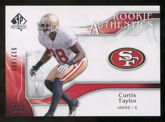 2009 Upper Deck SP Authentic #231 Curtis Taylor /999