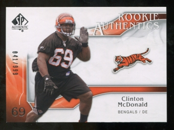 2009 Upper Deck SP Authentic #232 Clinton McDonald RC /999