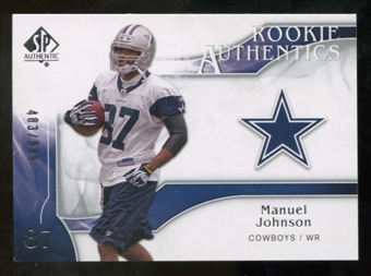 2009 Upper Deck SP Authentic #233 Manuel Johnson RC /999
