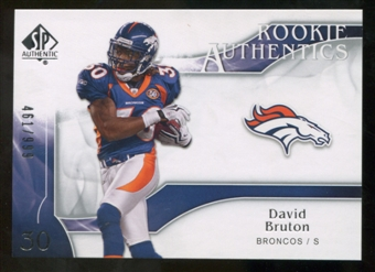 2009 Upper Deck SP Authentic #236 David Bruton /999