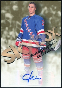 2012/13 Upper Deck Fleer Retro Autographics 1999 #99CK Chris Kreider B Autograph