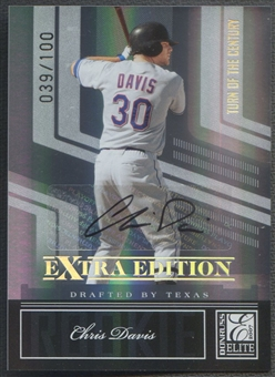 2007 Donruss Elite Extra Edition #136 Chris Davis Signature Turn of the Century Rookie Auto #039/100