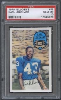 1970 Kellogg's Football #58 Carl Lockhart PSA 10 (GEM MT) *5729