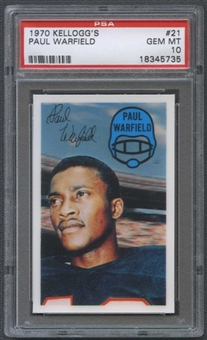 1970 Kellogg's Football #21 Paul Warfield PSA 10 (GEM MT) *5735
