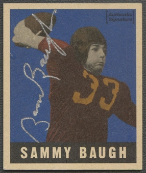 1997 Leaf Reproductions #24 Sammy Baugh Auto #1845/1948