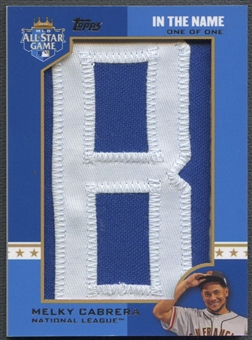 "2013 Topps #MEC Melky Cabrera In The Name Letter ""B"" Patch #1/1"