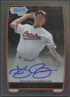 2012 Bowman Chrome Draft #KG Kevin Gausman Draft Pick Rookie Refractor Auto