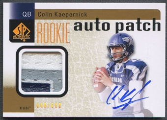 2011 SP Authentic #233 Colin Kaepernick Rookie Patch Auto #040/699