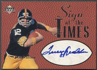 1997 Upper Deck Legends #ST5 Terry Bradshaw Sign of the Times Auto SP /100