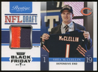 2012 Panini Prestige NFL Draft Materials Black Friday Prime #17 Shea McClellin