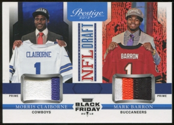 2012 Panini Prestige NFL Draft Combo Materials Black Friday #5 Morris Claiborne/Mark Barron