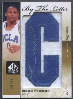 "2011/12 SP Authentic #BLRW Russell Westbrook By The Letter ""C"" Patch Auto #08/75"