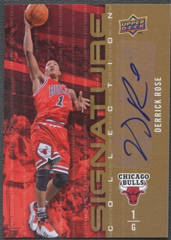 2009/10 Upper Deck #78 Derrick Rose Signature Collection Auto