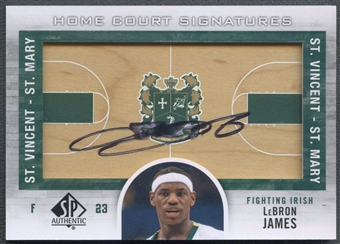 2012/13 SP Authentic #JA LeBron James Home Court Signatures Auto