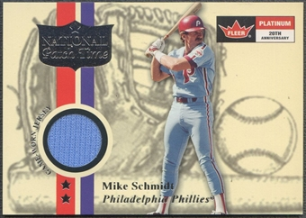 2001 Fleer Platinum #53 Mike Schmidt National Patch Time Jersey