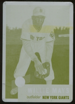 2012 Topps Archives Reprints Printing Plates Yellow #244 Willie Mays 1/1