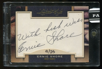 2011 Panini Donruss Limited Cuts 3 #117 Ernie Shore Autograph 09/25