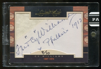 2011 Panini Donruss Limited Cuts 1 #71 Cy Williams Autograph 08/10