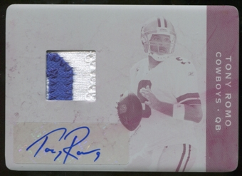 2011 Panini Plates and Patches Printing Plates Magenta #47 Tony Romo Jersey Autograph 1/1
