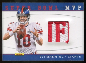2012 Panini Black Friday Super Bowl Materials Pylons #1 Eli Manning
