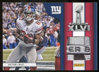 2012 Panini Black Friday Super Bowl Materials Pylons #4 Victor Cruz