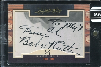 2011 Donruss Limited Cuts 1 #12 Babe Ruth Autograph 1/1