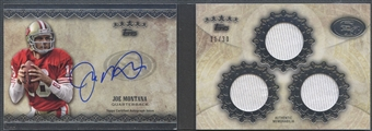 2012 Topps Five Star #FSSBJM Joe Montana Veteran Triple Jersey Auto #11/30
