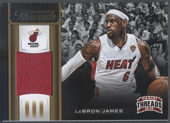 2012/13 Panini Threads #3 LeBron James Authentic Threads Jersey