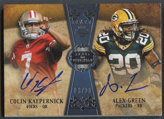 2011 Topps Five Star #FSFDAKG Colin Kaepernick & Alex Green Dual Rookie Auto #03/20