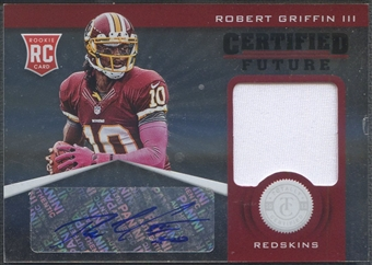 2012 Totally Certified #1 Robert Griffin III Future Signature Materials Rookie Jersey Auto #105/175