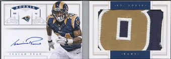 2012 Panini National Treasures #1 Isaiah Pead Rookie Jumbo Patch Booklet Auto #49/49