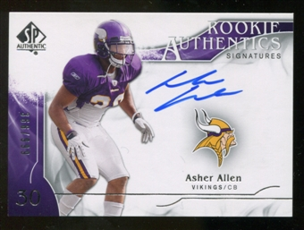 2009 Upper Deck SP Authentic #301 Asher Allen RC Autograph /999