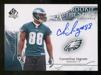 2009 Upper Deck SP Authentic #306 Cornelius Ingram RC Autograph /999