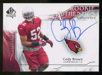 2009 Upper Deck SP Authentic #307 Cody Brown RC Autograph /999