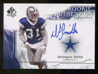 2009 Upper Deck SP Authentic #308 DeAngelo Smith RC Autograph /999