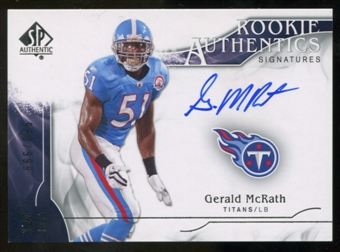 2009 Upper Deck SP Authentic #310 Gerald McRath RC Autograph /999