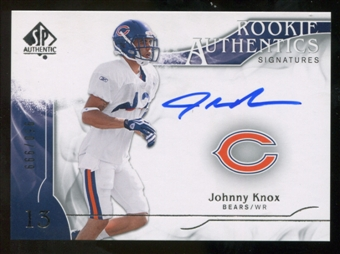 2009 Upper Deck SP Authentic #315 Johnny Knox Autograph /999