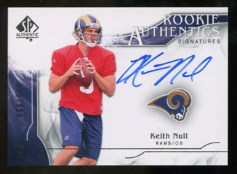 2009 Upper Deck SP Authentic #320 Keith Null Autograph /999