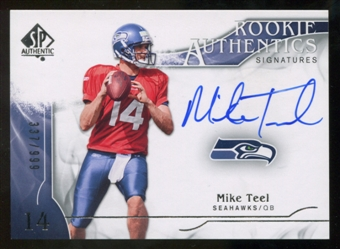 2009 Upper Deck SP Authentic #322 Mike Teel RC Autograph /999