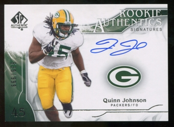 2009 Upper Deck SP Authentic #324 Quinn Johnson RC Autograph /999