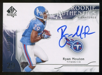 2009 Upper Deck SP Authentic #328 Ryan Mouton RC Autograph /999