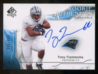 2009 Upper Deck SP Authentic #330 Tony Fiammetta RC Autograph /999