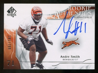 2009 Upper Deck SP Authentic #332 Andre Smith Autograph /799